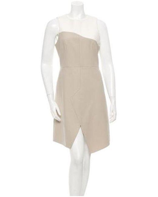 Tibi - Natural Sleeveless Dress Beige - Lyst