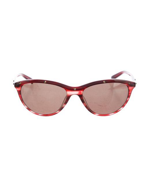 Balmain   Metallic Stud-accented Resin Sunglasses Gold   Lyst