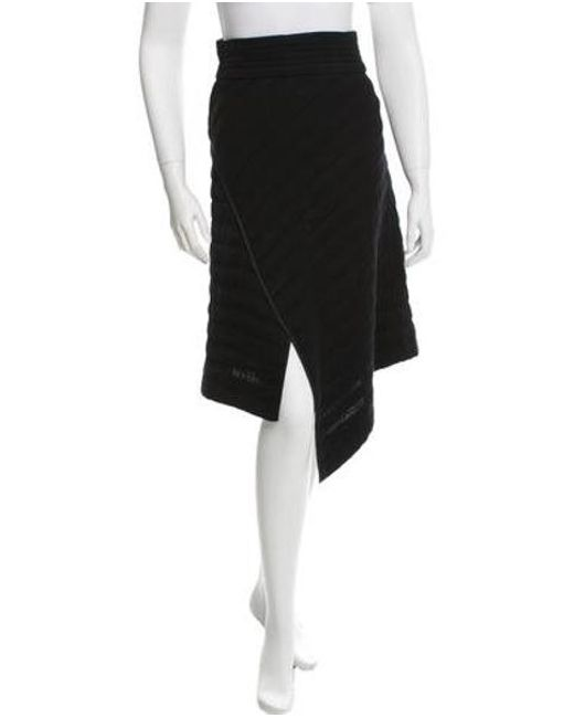Isabel Marant - Black Quilted Asymmetrical Skirt W/ Tags - Lyst