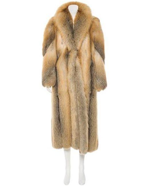 Dior - Gray Fox Fur Coat Brown - Lyst