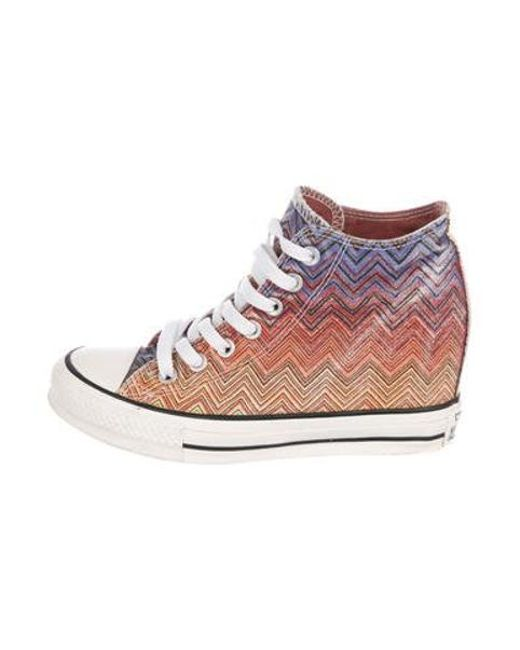 a755ce94623405 Converse - Pink Chevron High-top Sneakers - Lyst ...