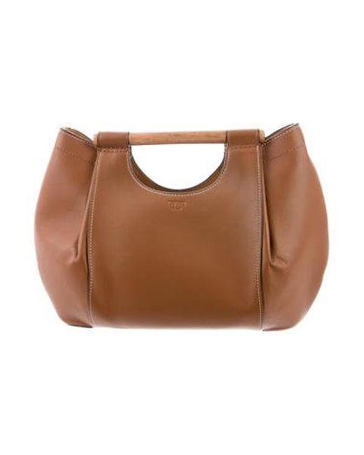 118c0fb2df55 Tory Burch - Metallic Soft Leather Satchel Gold - Lyst ...
