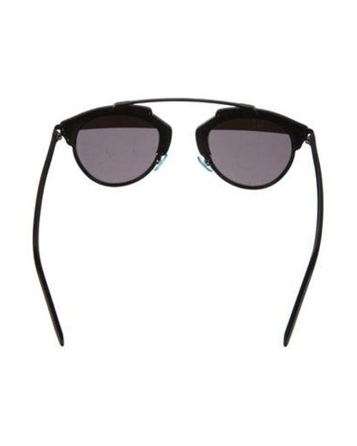 9030a838af6 ... Dior - Metallic Diorsoreal Tinted Sunglasses Black - Lyst ...