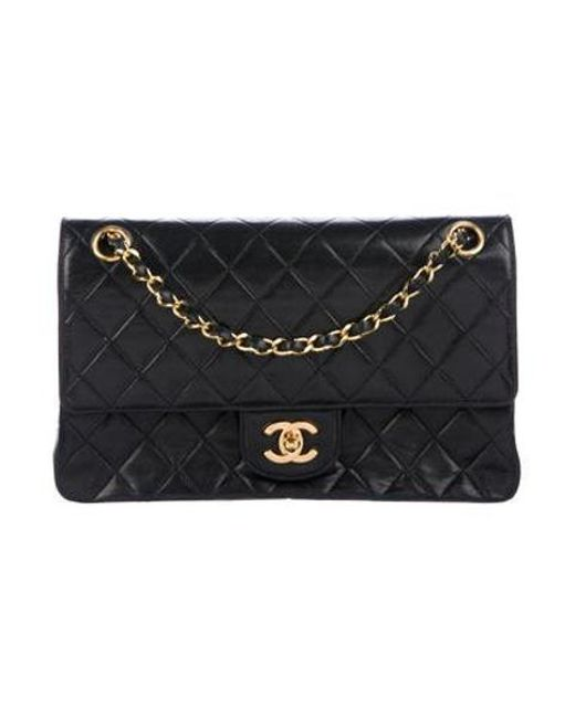 ec5cd24b459fd3 Chanel - Metallic Vintage Classic Medium Double Flap Bag Black - Lyst ...