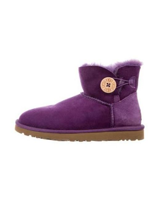 Ugg - Purple Mini Bailey Ankle Boots - Lyst ...