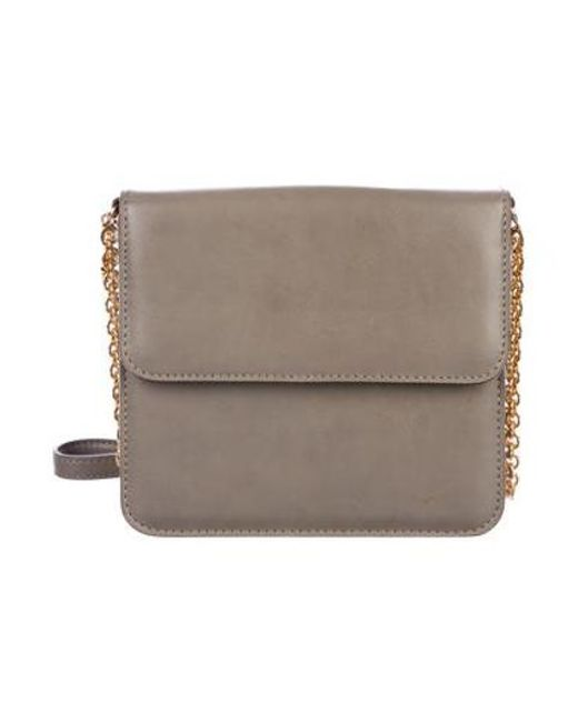 Stella McCartney - Metallic Vegan Leather Crossbody Bag Grey - Lyst ... d4e685de1732e