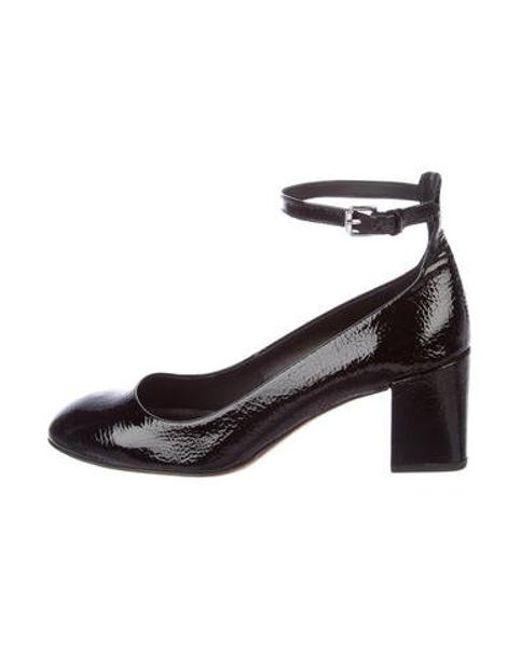 91b1bbf77101 Rebecca Minkoff - Black Patent Leather Round-toe Pumps - Lyst ...