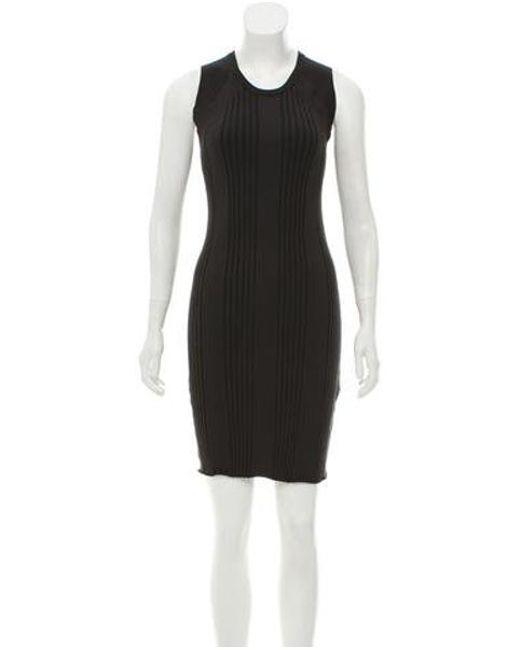 Edun - Black Sleeveless Bodycon Dress - Lyst