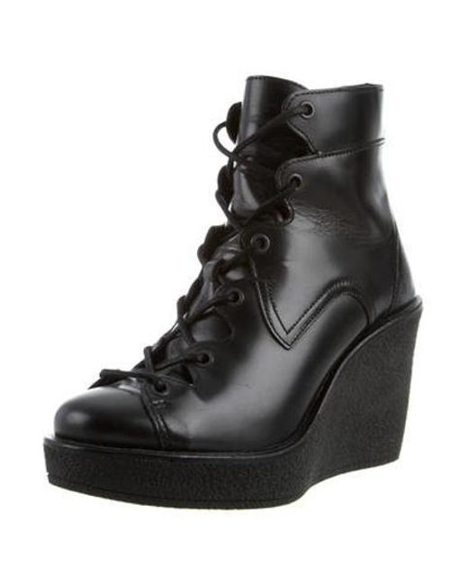 3981e6396c5 ... Pierre Hardy - Black Leather Wedge Ankle Boots - Lyst ...