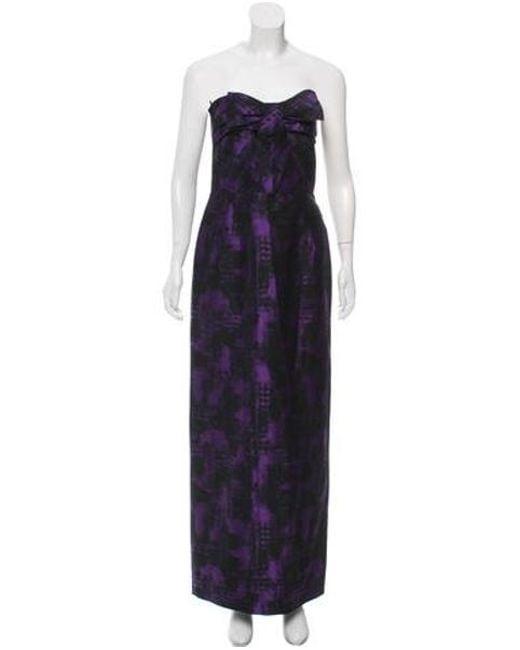 351fa39c8eead Michael Kors - Black Strapless Wool Maxi Dress - Lyst ...