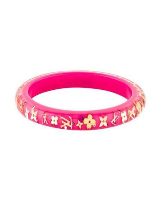 Louis Vuitton - Metallic Narrow Inclusion Bracelet Gold - Lyst