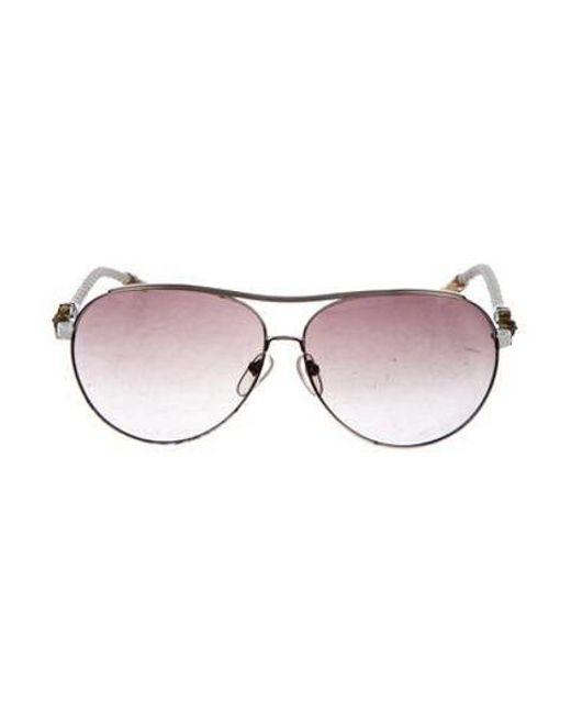 f170063dbe3a Chrome Hearts - Metallic Jism Aviator Sunglasses Gold - Lyst ...