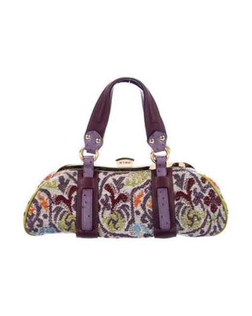 a048929e3 Etro - Metallic Wool-blend Shoulder Bag Purple - Lyst ...