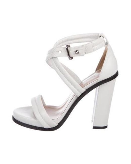 518d7cab0722b0 Barbara Bui - White Multistrap Leather Sandals - Lyst ...