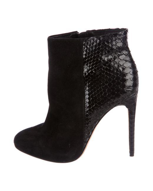 Alexandre Birman Python-Trimmed Cutout Ankle Boots clearance buy WWfBU2y