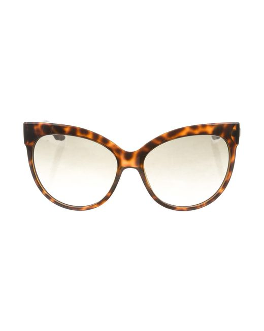 Dior - Brown Paname Oversize Sunglasses - Lyst