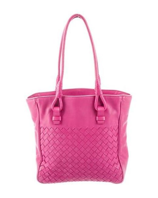 346b21fdf344 Bottega Veneta - Natural Leather Tote Bag Pink - Lyst ...