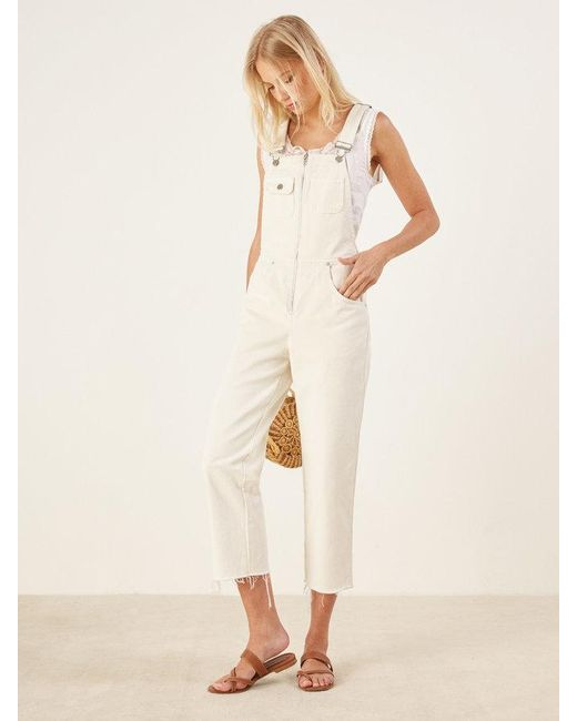 Reformation - White Benji Overall - Lyst