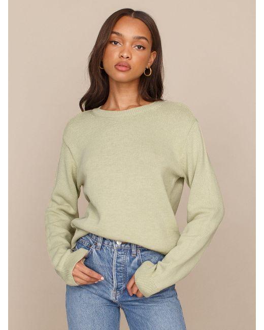 Reformation Multicolor Cotton Boyfriend Sweater