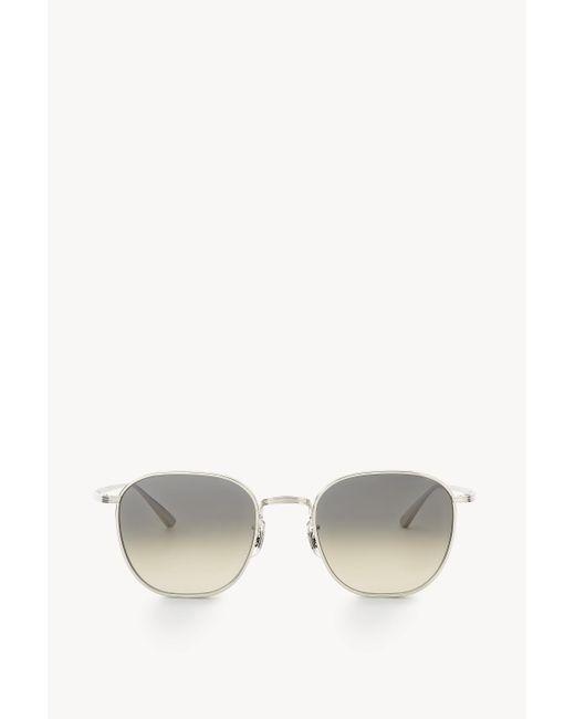 The Row Metallic Board Meeting 2 Sunglasses In Titanium