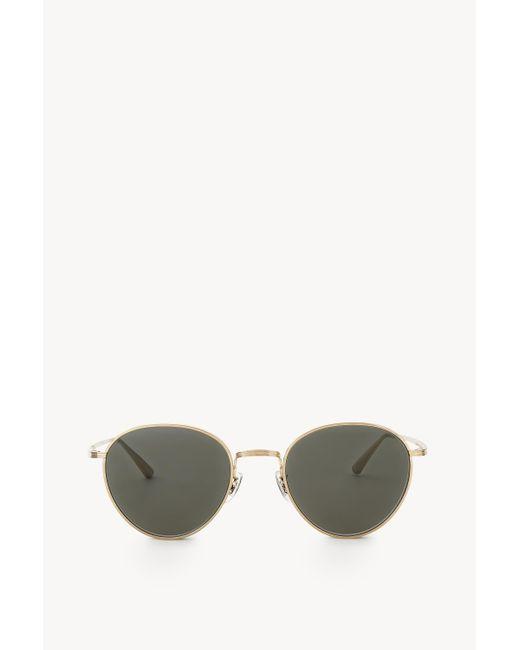 The Row Green Brownstone 2 Sunglasses In Titanium