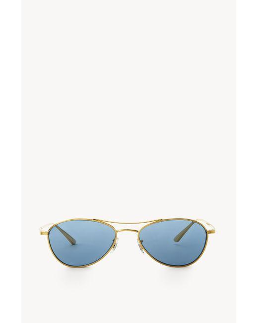 The Row Blue Aero La Sunglasses In Titanium