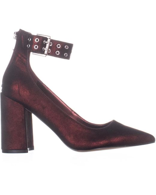 2103fcc0dbf Women's Red Dalanna Low-heel Ankle Strap Court Shoes