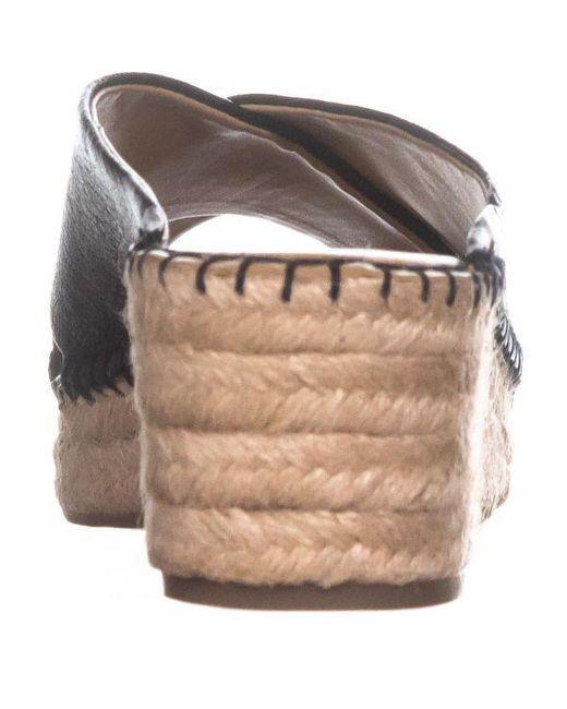 4f225029108 ... Franco Sarto - Black Polina Espadrille Wedge Sandals - Lyst ...