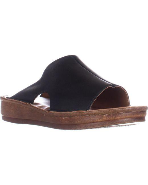 Bella Vita | Black Mae-italy Slide Sandals | Lyst