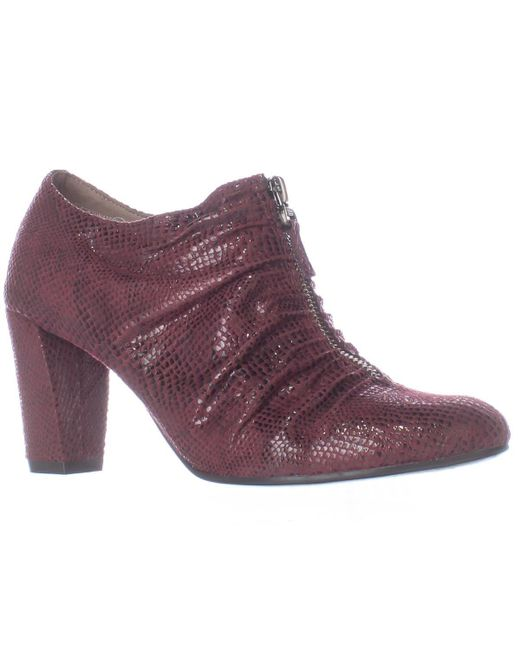 Aerosoles | Purple Fortunate Front Zip Scrunch Ankle Boots | Lyst