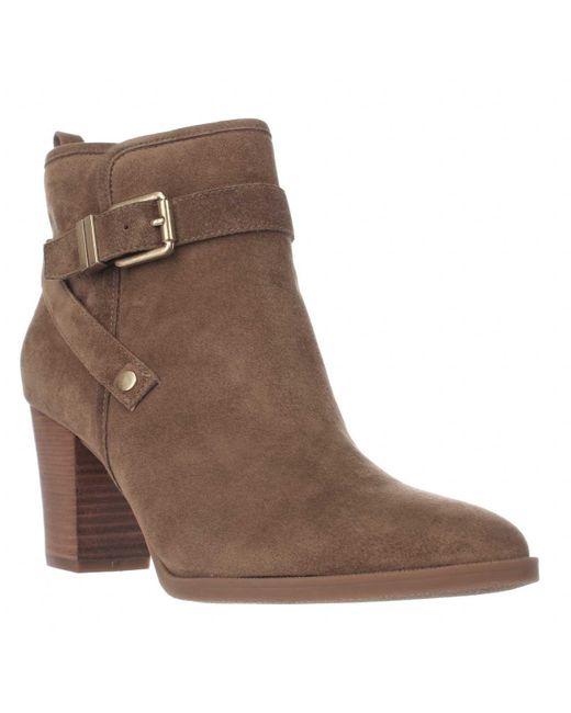 Franco Sarto | Brown Delancy Wrap Strap Ankle Boots | Lyst