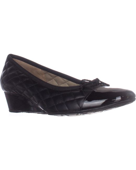 French Sole | Black Fs/ny Deluxe Quilted Wedge Pumps | Lyst