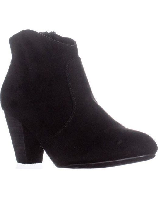 Report - Black Marque Block Heel Ankle Boots - Lyst