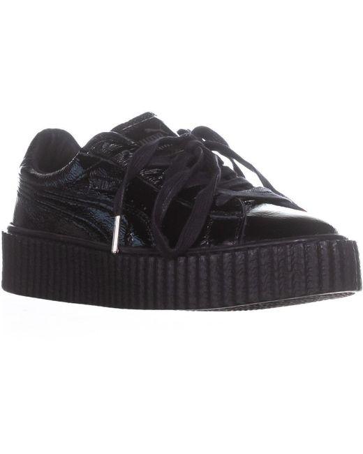 PUMA Black Creeper Platform Fashion Sneakers