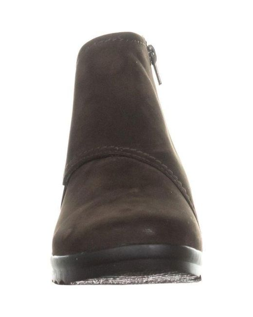 bc705ba723a ... Clarks - Brown Cloudsteppers By Caddell Rush Wedge Booties - Lyst ...