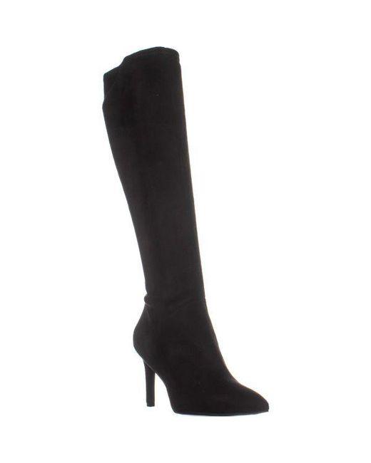4127e81b2d17 Nine West - Black Chelsis Knee High Boots - Lyst ...