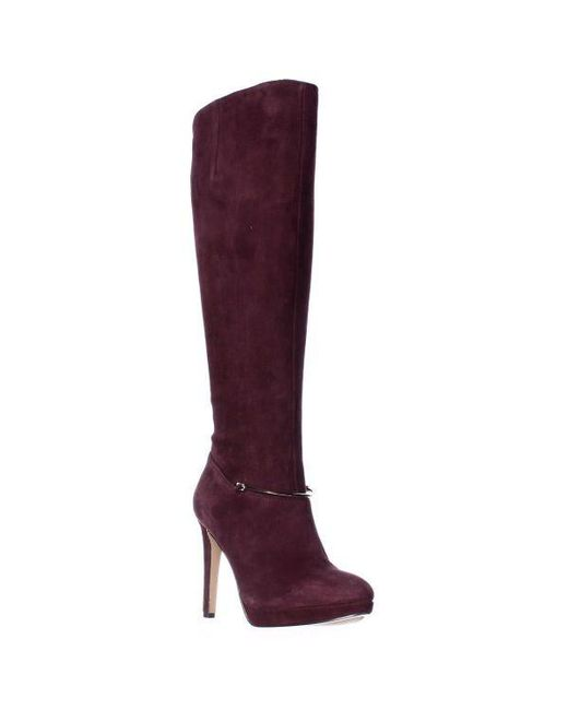 Nine West - Red Pearson Wide-calf Knee High Boots - Lyst