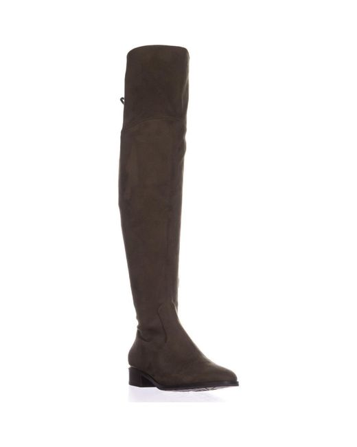 Ivanka Trump - Green Lnde Over The Knee Lace Up Boots - Lyst
