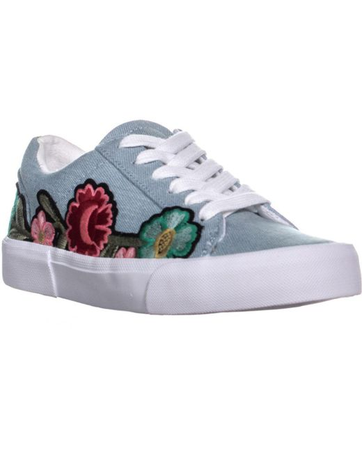 Jessica Simpson - Blue Dessa Embroidery Lace-up Sneakers - Lyst
