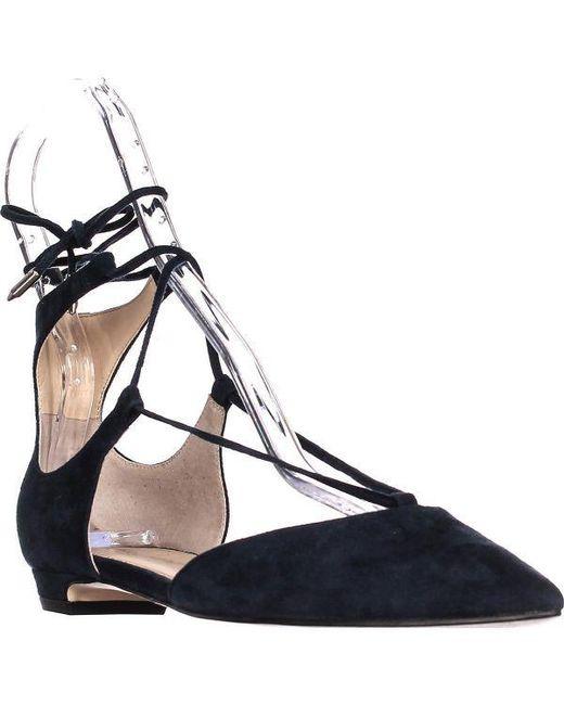 Ivanka Trump - Blue Tavyn Pointed Toe Lace Up Flats - Lyst
