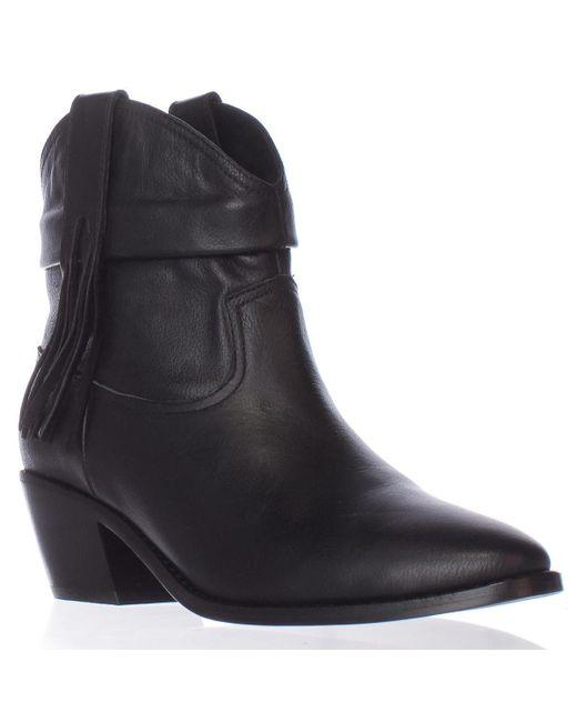 Joie - Black Keaton Fringe Chelsea Western Ankle Boots - Lyst
