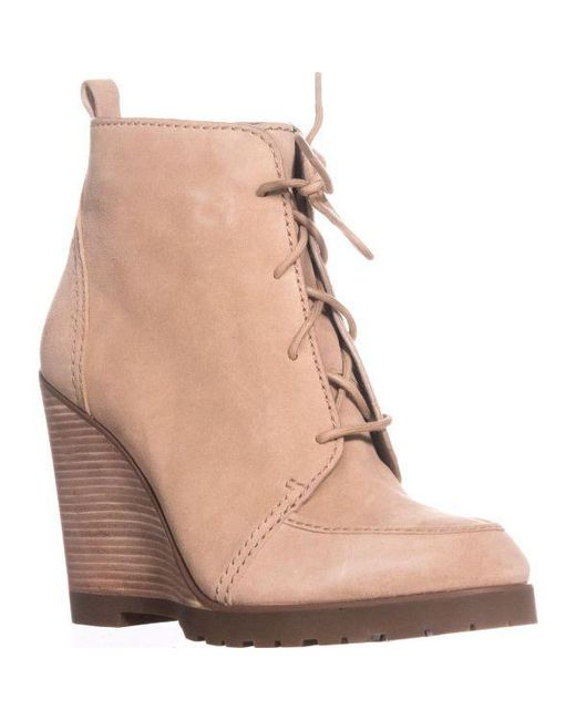 61c291a1c6b Michael Kors - Natural Michael Piper Lace Wedge Ankle Boots - Lyst ...