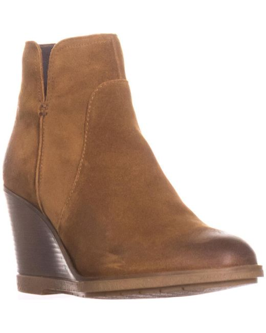 Kenneth Cole Brown Reaction Dot-ation Wedge Ankle Boots