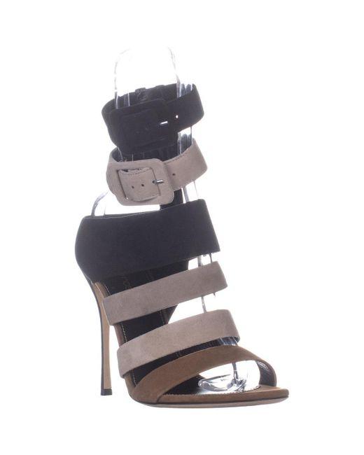 Sergio Rossi Multicolor Zebra Strappy Sandals