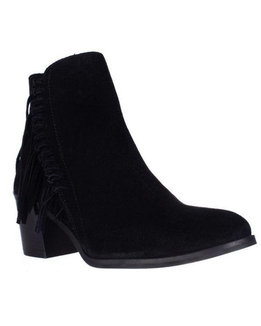 Kenneth Cole - Black Reaction Rotini Side Fringe Ankle Boots - Lyst