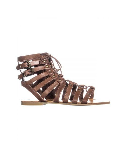 af2513e1088afa Lyst - Guess G By Holmes Strappy Gladiator Sandals in Brown - Save 12.5%