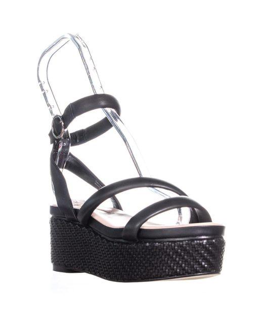 Avec Les Filles Black Ava Ankle Strap Platform Sandals