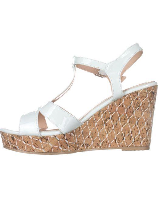a00b9990908e ... Callisto - White Aspenn T-strap Wedge Sandals - Lyst ...
