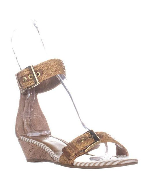 8a5357fc6dd Sperry Top-Sider - Brown Lynnbrook Ankle Strap Sandals - Lyst ...