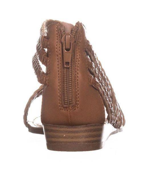 c35b8ae2391a7 ... Carlos By Carlos Santana - Brown Amara 2 Braided Strap Sandals - Lyst  ...